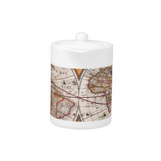 Original 17th Century World-Map latin 1600s