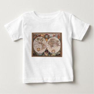 Original 17th Century World-Map latin 1600s Baby T-Shirt