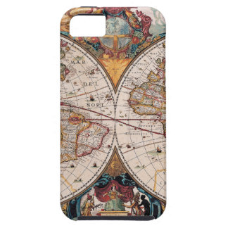 Original 17th Century World-Map latin 1600s iPhone 5 Covers
