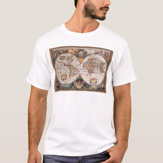 Original 17th Century World-Map latin 1600s T-Shirt