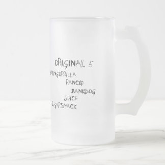 Original 5 series frosted glass beer mug