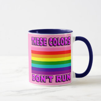 Original 8 striped flag LGBT gay pride. Mug