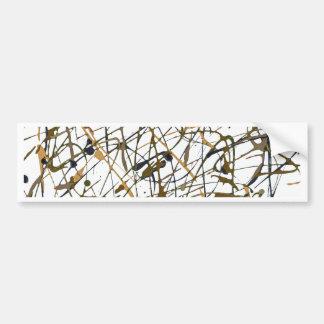 Original abstract art bumper sticker
