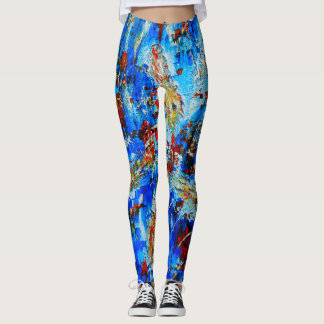 Original abstract art yoga/gym leggings