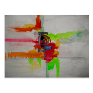 Original Abstract Artwork Postcard