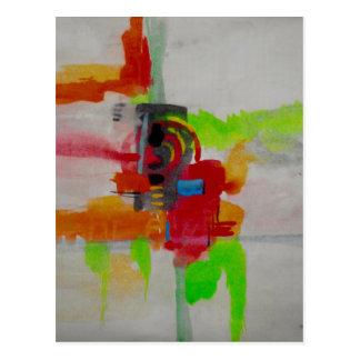 Original Abstract Artwork Postcard