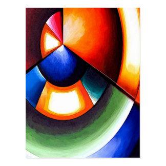 Original Abstract Cubist Art Postcard