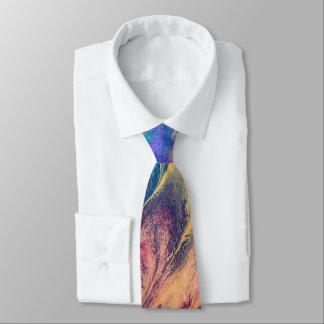 Original Abstract Rainbow Colourful Splash Tie
