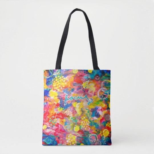 Original Acrylic Painting Print on Tote Bag