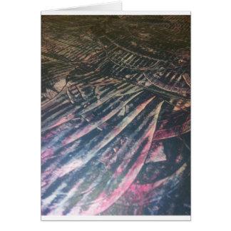 original alien landscape techno artist view card