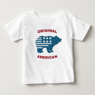 Original American | United States Typography Bear Baby T-Shirt