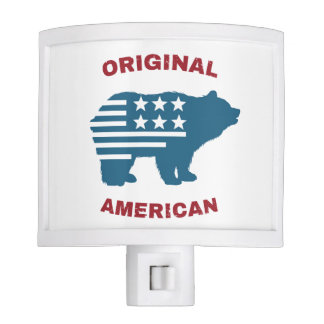 Original American | United States Typography Bear Night Lite