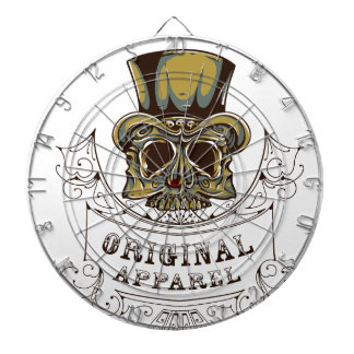 original apparel scary skull dartboard