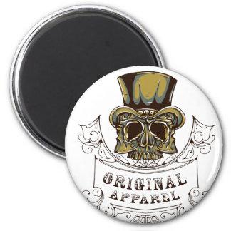 original apparel scary skull magnet