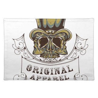 original apparel scary skull placemat