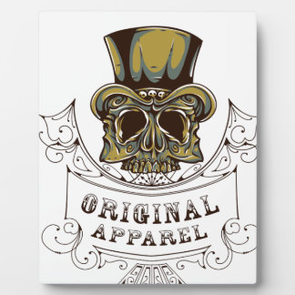 original apparel scary skull plaque