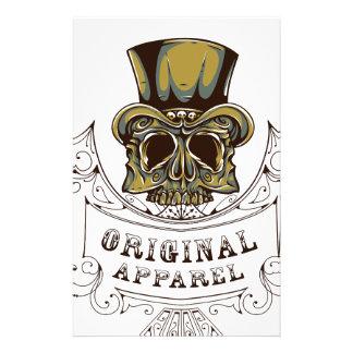 original apparel scary skull stationery paper