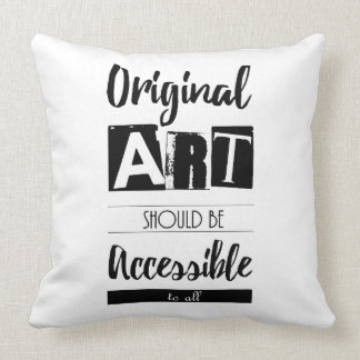 Original Art Accessible to All Inspirational Throw Pillow