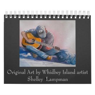 Original art by Shelley Lampman Wall Calendar