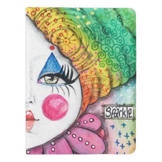 Original Art Clown Mime Rainbow Notebook Cover