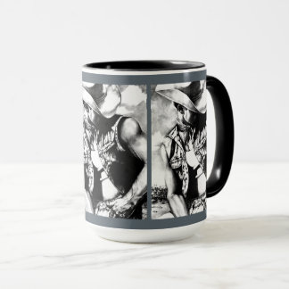 """ Original Art Cowboy"" Coffee Tea Beverage Mugs"