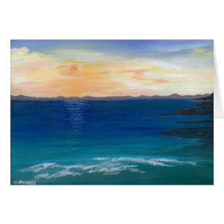 Original Art Greeting Card, Charlie's Beach Card