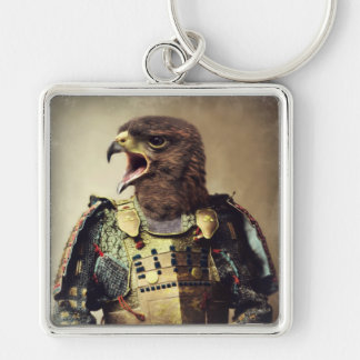 Original Art Hawk Keychain