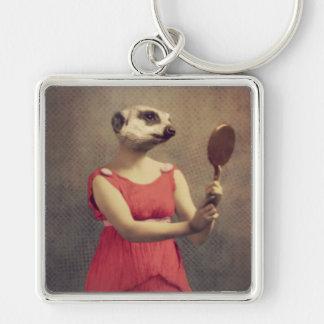 Original Art Meerkat Keychain