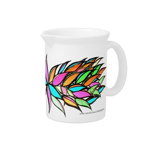 Original Art Neon Leaves Pitcher by GABYforJULIE