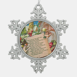 Original Art, Victorian Christmas Collage Ornament