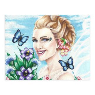 Original Art Wildflowers Postcard