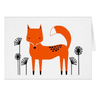 "Original art work"" Fred the Fox Card"