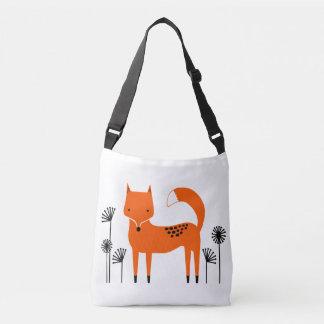 """Original art work"" Fred the Fox Crossbody Bag"