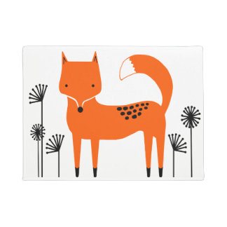 """Original art work"" Fred the Fox Doormat"