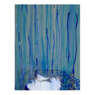 Original Artwork - Blue Down Pour Disguise Postcard
