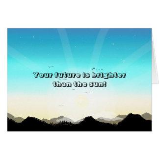 Original Artwork (Mountains) Punny Greetings Card
