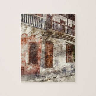 Original artwork of of Cartagen Colombia Jigsaw Puzzle