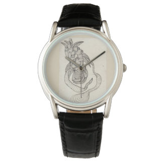 Original Artwork Unisex Watch with Leather Strap