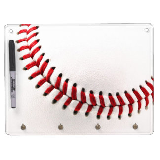 Original baseball ball dry erase board with keychain holder