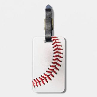 Original baseball ball luggage tag