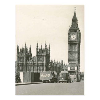 Original Big ben 1953 photo Postcard