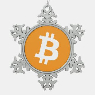 Original Bitcoin Logo Christmas Snowflake Ornament