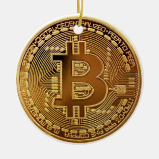 Original Bitcoin Logo Graph Christmas Ornament