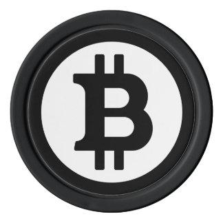 Original Bitcoin Logo Logo Black Poker Chips