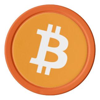 Original Bitcoin Symbol Logo Orange Poker Chips