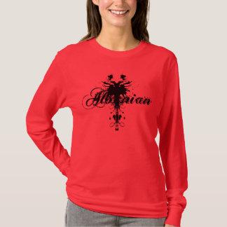 Original Black Albanian Eagle design on red T-Shirt