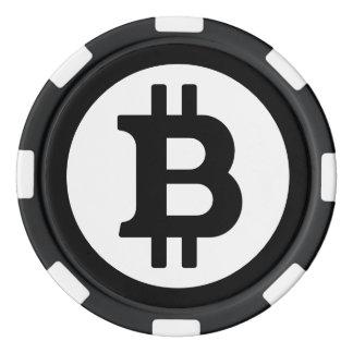 Original Black Bitcoin Logo Symbol Poker Chips