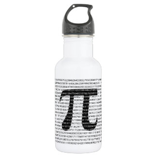 Original black number pi day mathematical symbol 532 ml water bottle