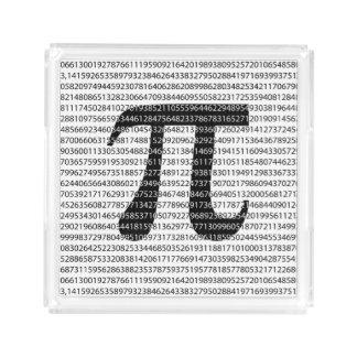 Original black number pi day mathematical symbol acrylic tray
