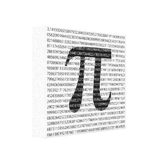 Original black number pi day mathematical symbol canvas print